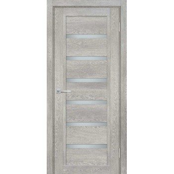 Дверь ТЕХНО-807 Чиаро гриджио  nanotex белый сатинат со стеклом (Товар № ZF114883)