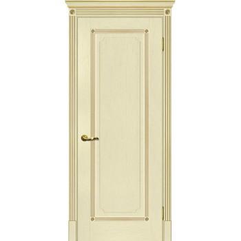 Дверь Флоренция-1 ваниль, патина золото  Экошпон глухое (Товар № ZF114980)
