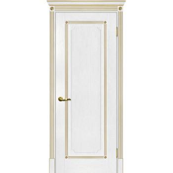 Дверь Флоренция-1 пломбир, патина золото  Экошпон глухое (Товар № ZF114988)