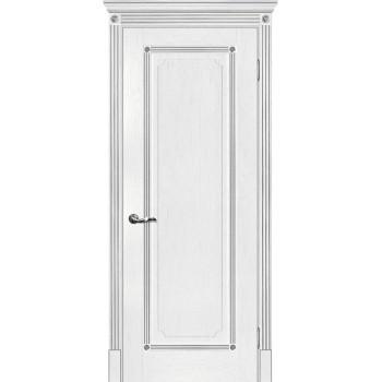 Дверь Флоренция-1 пломбир, патина серебро  Экошпон глухое (Товар № ZF114990)