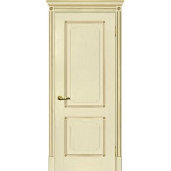 Дверь Флоренция-2 ваниль, патина золото  Экошпон глухое (Товар № ZF115000)