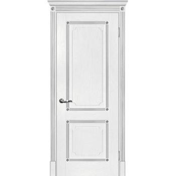 Дверь Флоренция-2 пломбир, патина серебро  Экошпон глухое (Товар № ZF115010)