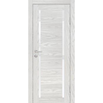 Дверь PSM-9 Дуб скай бежевый  Экошпон белоснежный лакобель со стеклом (Товар № ZF213384)