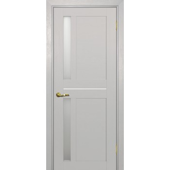 Дверь PSU-19 Лунное дерево  nanotex белый сатинат со стеклом (Товар № ZF213394)