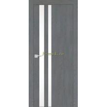 Дверь FX-10 Ясень кварцевый  белый лакобель со стеклом (Товар № ZF114067)
