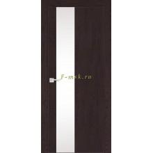 Дверь FX- 6 Ясень шоколад  белый лакобель со стеклом (Товар № ZF114062)