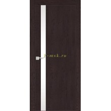 Дверь FX- 8 Ясень шоколад  белый лакобель со стеклом (Товар № ZF114066)