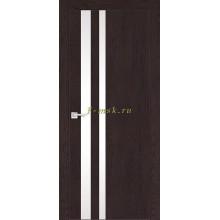 Дверь FX-10 Ясень шоколад  белый лакобель со стеклом (Товар № ZF114070)