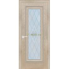 Дверь PSB-25 Дуб Гарвард бежевый  Сатинат, пескоструйная обработка со стеклом (Товар № ZF114265)