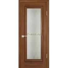Дверь PSB-25 Дуб медовый  Сатинат, пескоструйная обработка со стеклом (Товар № ZF114267)