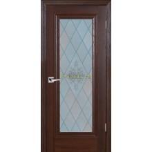 Дверь PSB-25 Дуб Оксфорд темный  Сатинат, пескоструйная обработка со стеклом (Товар № ZF114268)