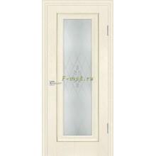 Дверь PSB-25 Ваниль  Сатинат, пескоструйная обработка со стеклом (Товар № ZF114264)