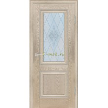 Дверь PSB-27 Дуб Гарвард бежевый  Сатинат, пескоструйная обработка со стеклом (Товар № ZF114277)
