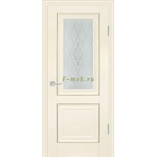 Дверь PSB-27 Ваниль  Сатинат, пескоструйная обработка со стеклом (Товар № ZF114276)