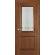 Дверь PSB-27 Дуб медовый  Сатинат, пескоструйная обработка со стеклом (Товар № ZF114279)