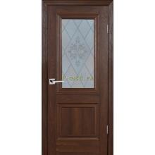 Дверь PSB-27 Дуб Оксфорд темный  Сатинат, пескоструйная обработка со стеклом (Товар № ZF114280)