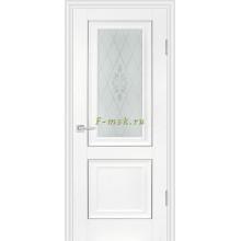 Дверь PSB-27 Пломбир  Сатинат, пескоструйная обработка со стеклом (Товар № ZF114281)