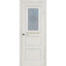 Дверь PSB-29 Дуб Гарвард кремовый  Сатинат, пескоструйная обработка со стеклом (Товар № ZF114290)