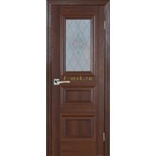 Дверь PSB-29 Дуб Оксфорд темный  Сатинат, пескоструйная обработка со стеклом (Товар № ZF114292)