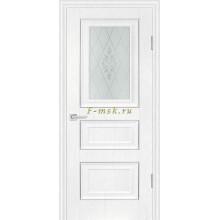 Дверь PSB-29 Пломбир  Сатинат, пескоструйная обработка со стеклом (Товар № ZF114293)