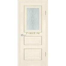 Дверь PSB-29 Ваниль  Сатинат, пескоструйная обработка со стеклом (Товар № ZF114288)