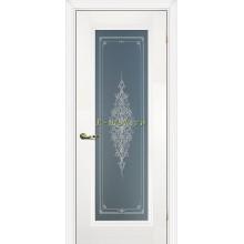 Дверь PSC-25 Белый  Бесцветное Кристалайз со стеклом (Товар № ZF114301)