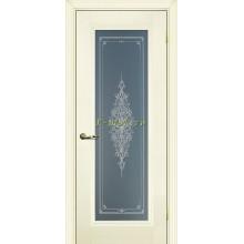 Дверь PSC-25 Магнолия  Бесцветное Кристалайз со стеклом (Товар № ZF114302)