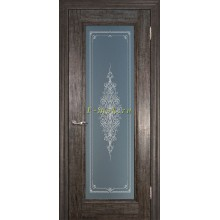 Дверь PSC-25 Орех седой мраморный  Бронза Кристалайз со стеклом (Товар № ZF114304)