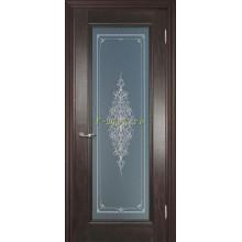 Дверь PSC-25 Палисандр мраморный  Бронза Кристалайз со стеклом (Товар № ZF114305)