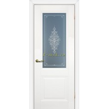 Дверь PSC-27 Белый  Бесцветное Кристалайз со стеклом (Товар № ZF114311)