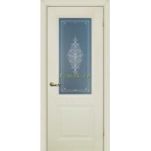 Дверь PSC-27 Магнолия  Бесцветное Кристалайз со стеклом (Товар № ZF114312)