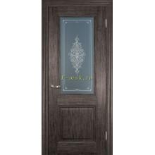 Дверь PSC-27 Орех седой мраморный  Бронза Кристалайз со стеклом (Товар № ZF114314)