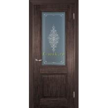 Дверь PSC-27 Палисандр мраморный  Бронза Кристалайз со стеклом (Товар № ZF114315)
