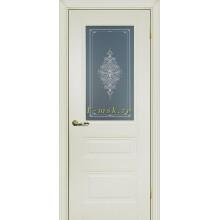 Дверь PSC-29 Магнолия  Бесцветное Кристалайз со стеклом (Товар № ZF114322)