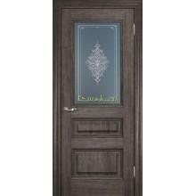 Дверь PSC-29 Орех седой мраморный  Бронза Кристалайз со стеклом (Товар № ZF114324)