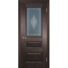 Дверь PSC-29 Палисандр мраморный  Бронза Кристалайз со стеклом (Товар № ZF114325)