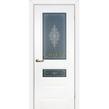 Дверь PSC-29-2 Белый  Бесцветное Кристалайз со стеклом (Товар № ZF114326)
