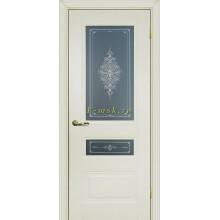 Дверь PSC-29-2 Магнолия  Бесцветное Кристалайз со стеклом (Товар № ZF114327)