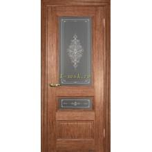 Дверь PSC-29-2 Орех мраморный  Бронза Кристалайз со стеклом (Товар № ZF114328)