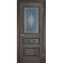 Дверь PSC-29-2 Орех седой мраморный  Бронза Кристалайз со стеклом (Товар № ZF114329)