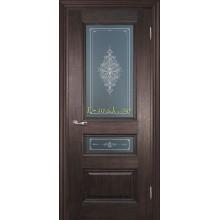 Дверь PSC-29-2 Палисандр мраморный  Бронза Кристалайз со стеклом (Товар № ZF114330)