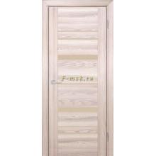 Дверь PSK-2 Ривьера крен-экрю  кремовый лакобель со стеклом (Товар № ZF114360)