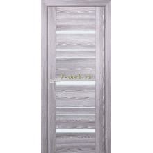 Дверь PSK-3 Ривьера грей  белый лакобель со стеклом (Товар № ZF114362)