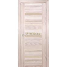 Дверь PSK-3 Ривьера крен-экрю  кремовый лакобель со стеклом (Товар № ZF114364)