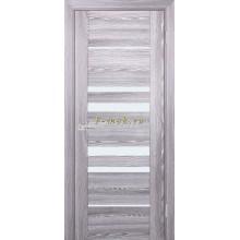 Дверь PSK-4 Ривьера грей  белый лакобель со стеклом (Товар № ZF114366)
