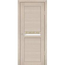 Дверь PS-03 Капучино Мелинга  белый сатинат со стеклом (Товар № ZF114093)