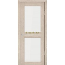 Дверь PS-04 Капучино Мелинга  белый сатинат со стеклом (Товар № ZF114099)