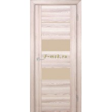 Дверь PSK-6 Ривьера крен-экрю  кремовый лакобель со стеклом (Товар № ZF114376)