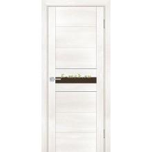 Дверь PSN- 3 Бьянко антико  кофе лакобель со стеклом (Товар № ZF114394)