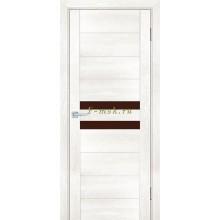 Дверь PSN- 4 Бьянко антико  кофе лакобель со стеклом (Товар № ZF114398)